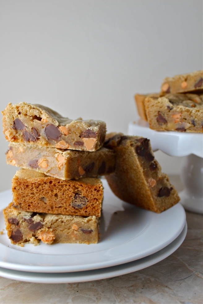 These rich, chewy, and sweet Chocolate Butterscotch Blondies are one of my favorite sweet treats! | The Millennial Cook #chocolate #butterscotch #blondies