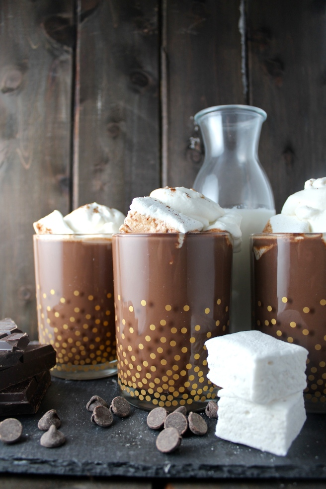 This Easy Homemade Hot Chocolate is rich, creamy, sweet, and loaded with chocolate! | The Millennial Cook #winterrecipe #hotchocolate #chocolate