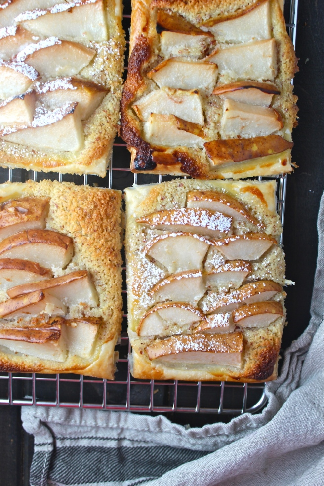 These Pear Frangipane Tarts are delicious, easy, and so, so elegant! | The Millennial Cook #fallrecipe #pear #almond #tart