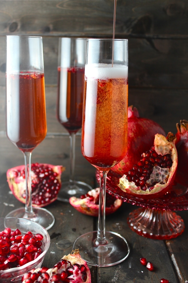This Pomegranate Champagne Sparkler is the perfect sweet, tart, and bubbly celebration cocktail! | The Millennial Cook #champagne #cocktail #pomegranate