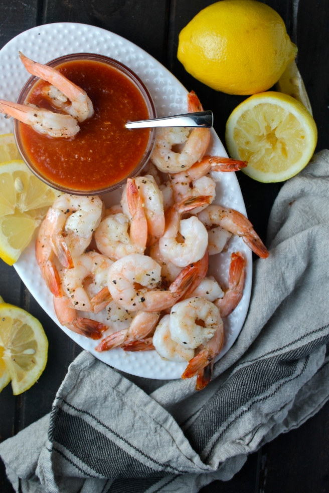 This Roasted Shrimp Cocktail is an elegant and delicious take on the party favorite! | The Millennial Cook #shrimp #shrimpcocktail #appetizer