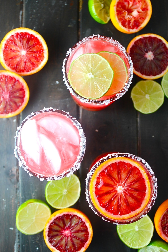 These Blood Orange Margaritas are tart, sweet, and refreshing - the perfect vibrant antidote to the winter gloom