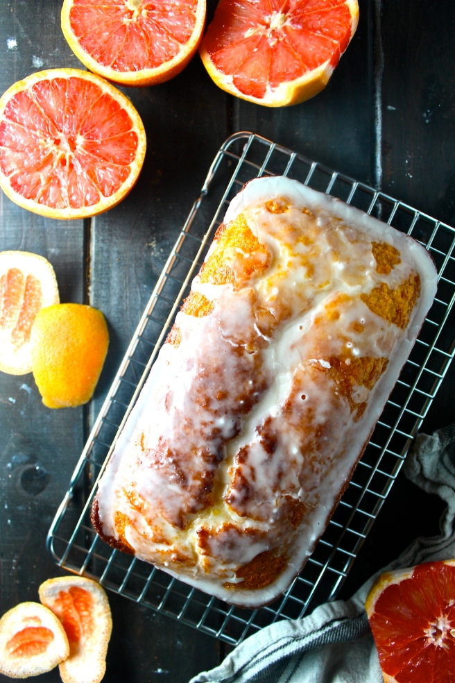 This Grapefruit Yogurt Pound Cake is so rich, sweet, and tart - the perfect rustic homemade dessert! | The Millennial Cook #winterrecipe #poundcake #grapefruit #citrus
