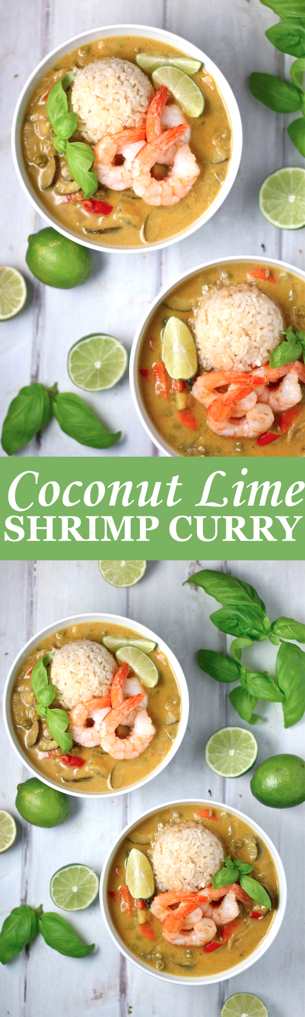 This Coconut Lime Shrimp Curry is light and flavorful, with a tart and creamy green curry sauce! | The Millennial Cook #thai #curry #greencurry #shrimp #coconut #lime