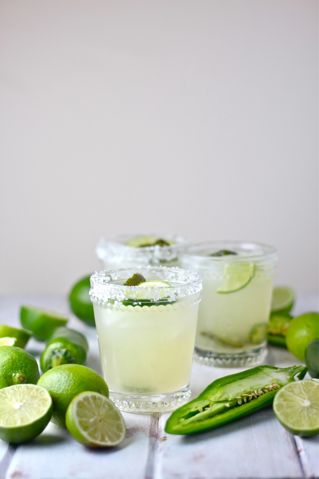 These Jalapeño Margaritas are sweet, spicy, tart, and icy! | The Millennial Cook #drinks #cocktails #margarita #lime #jalapeno