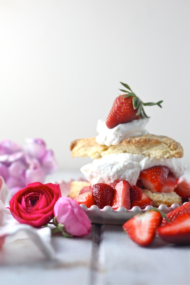 This sweet, decadent Strawberry Shortcake is my most favorite dessert of all time! | The Millennial Cook #spring #springrecipe #dessert #strawberry #strawberryshortcake