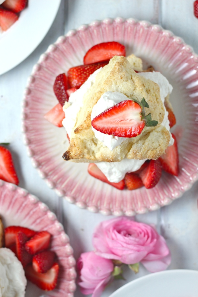 This sweet, decadent Strawberry Shortcake is my most favorite dessert of all time!   The Millennial Cook #spring #springrecipe #dessert #strawberry #strawberryshortcake