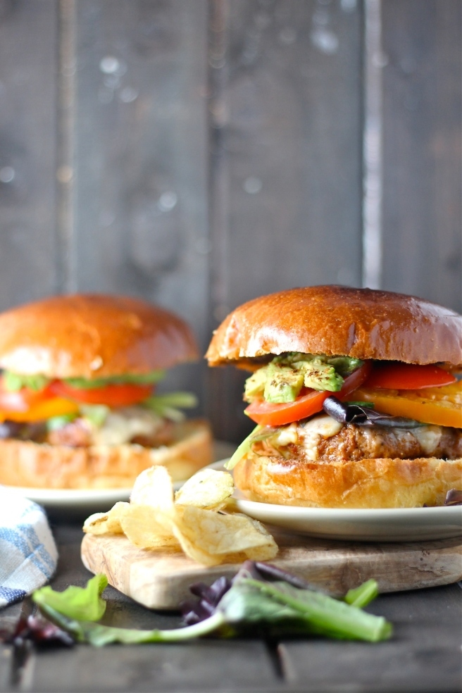 These quick and easy Barbecue Turkey Burgers are a lightened-up version of a summer classic! | The Millennial Cook #burger #turkeyburger #barbecue #bbq